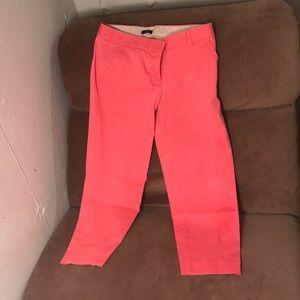 J. Crew peach City Fit ankle pants